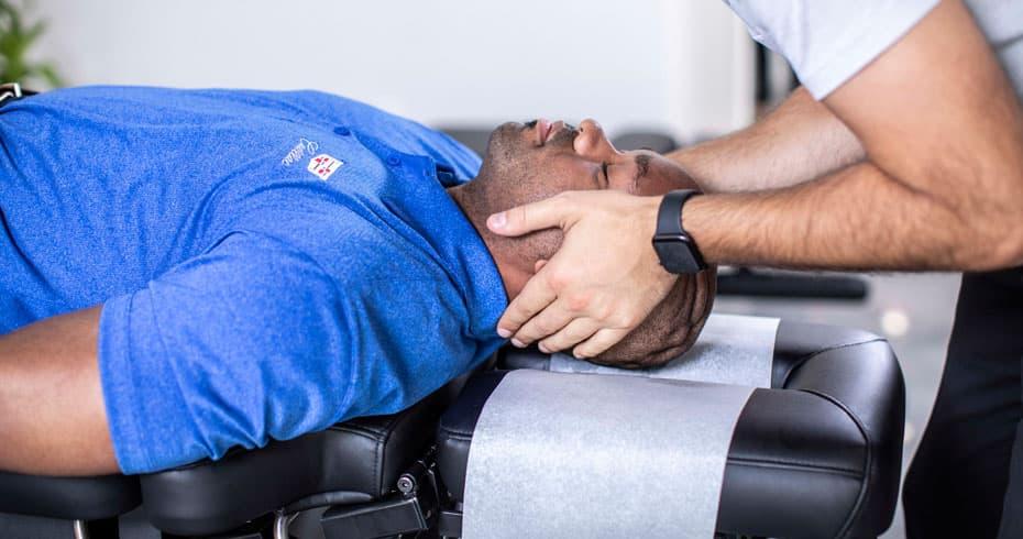 Photo: Gentle chiropractic adjustments can help with recurrent migraines.