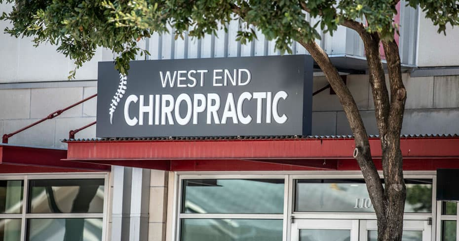 Photo: West End Chiropractic sign at 1611 West 5th St.